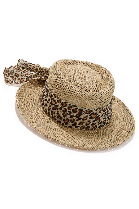 Leopard scarf hat image