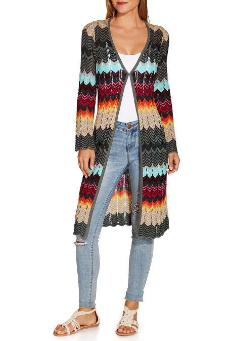 Crochet flare sleeve duster image