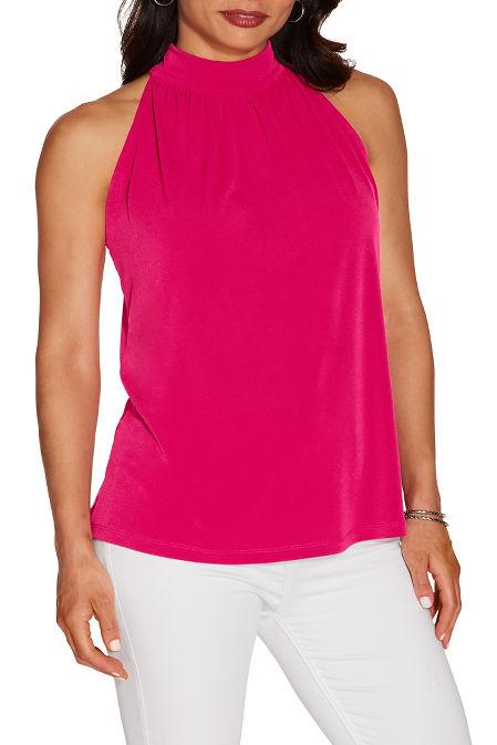 Mock neck sleeveless top image