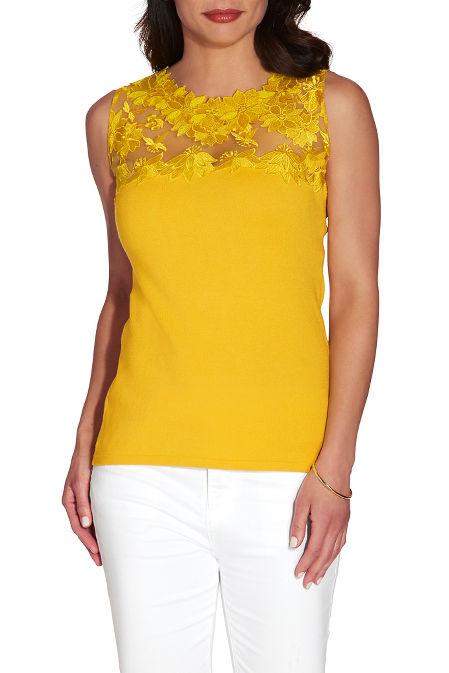 Lace top sleeveless sweater image