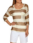 Sequin Striped Sweater Photo