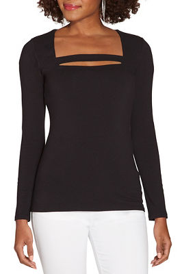So Sexy™ square neck bar long sleeve top