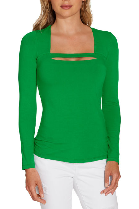 So Sexy™ square neck bar long sleeve top image