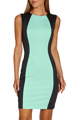 Colorblock Scuba Dress by Boston Proper