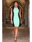 Colorblock Scuba Dress Photo