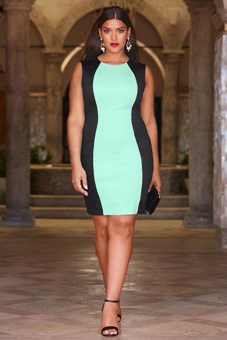 Colorblock scuba dress image