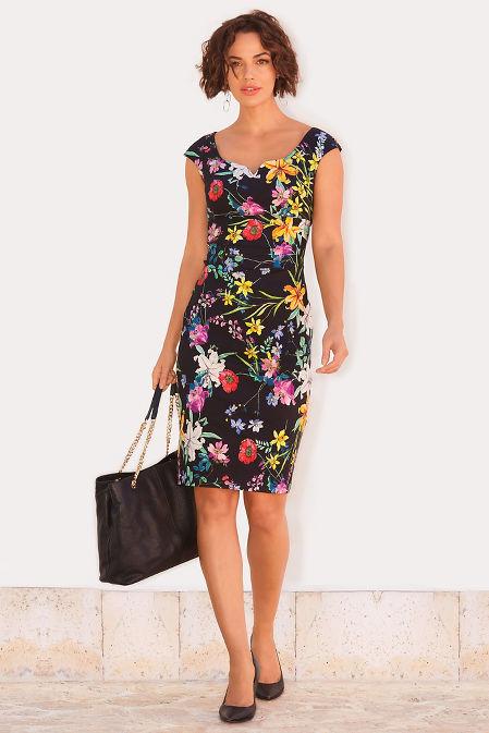 Floral sheath dress image