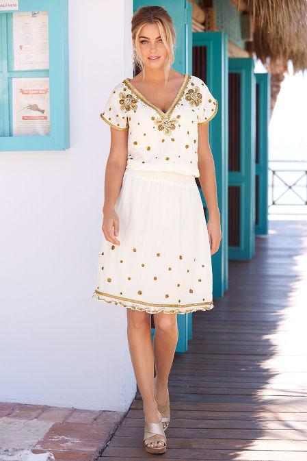 Gold embellished dress image