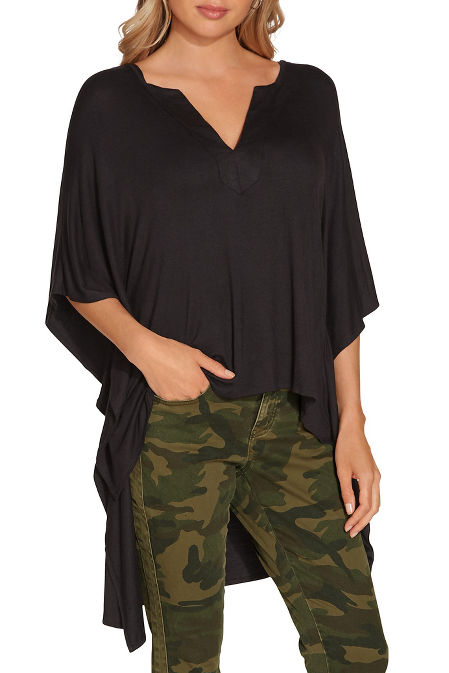 High low poncho top image