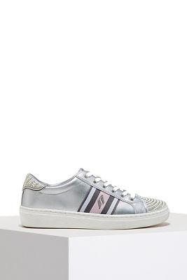 metallic rhinestone sneaker