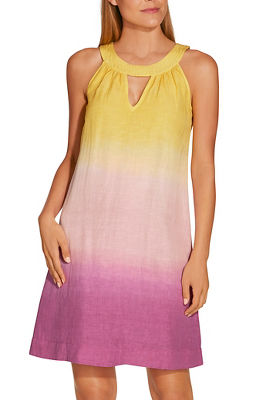 Ombré linen shift dress