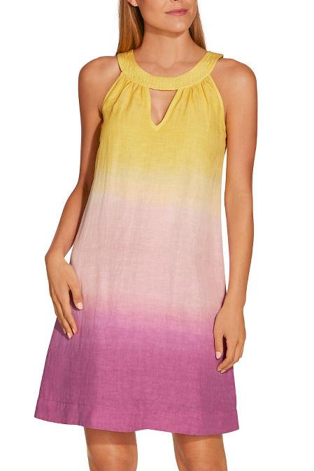 Ombré linen shift dress image