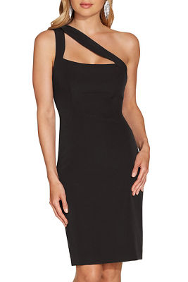 One shoulder cutout sheath dress