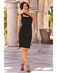 One Shoulder Cutout Sheath Dress Photo