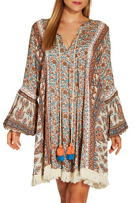 Printed tassel dress