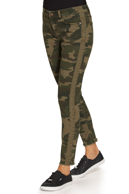 Racer stripe camo ankle pant image