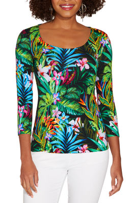 So Sexy™ jungle print scoop neck top