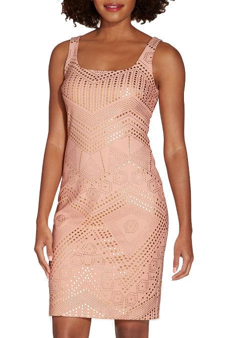 Studded sheath dress image