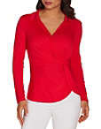 Surplice Collared Long Sleeve Top Photo