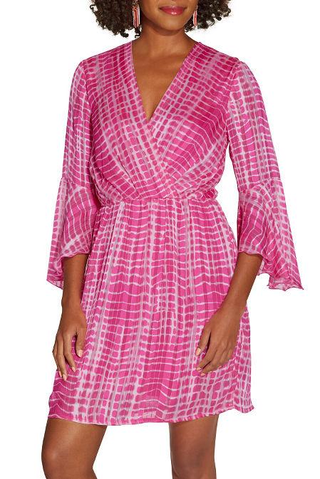 Surplice tie dye dress image