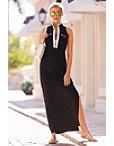 Chic Zip Maxi Dress Photo