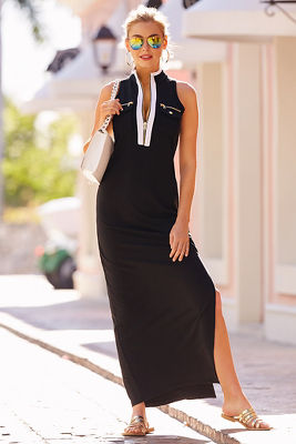 Chic zip maxi dress