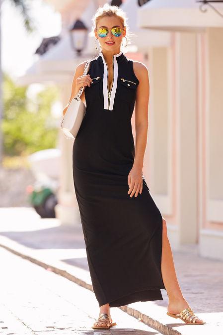 Chic zip maxi dress image