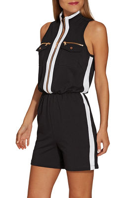 Chic zip romper