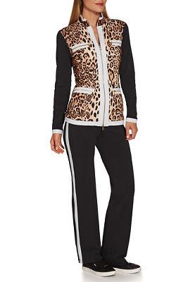 Leopard print chic zip coordinates