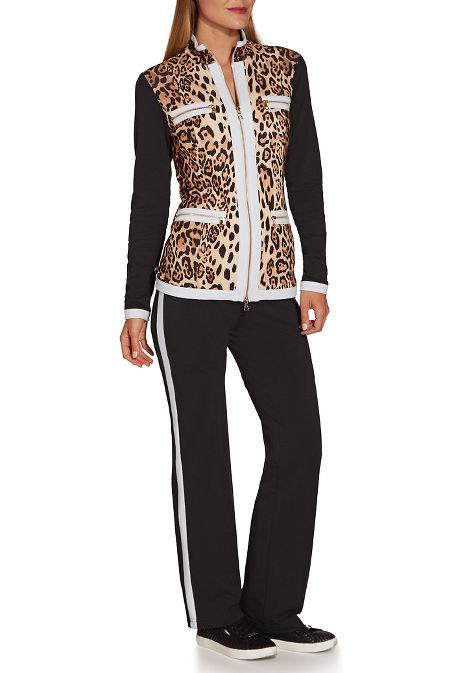 Leopard print chic zip coordinates image
