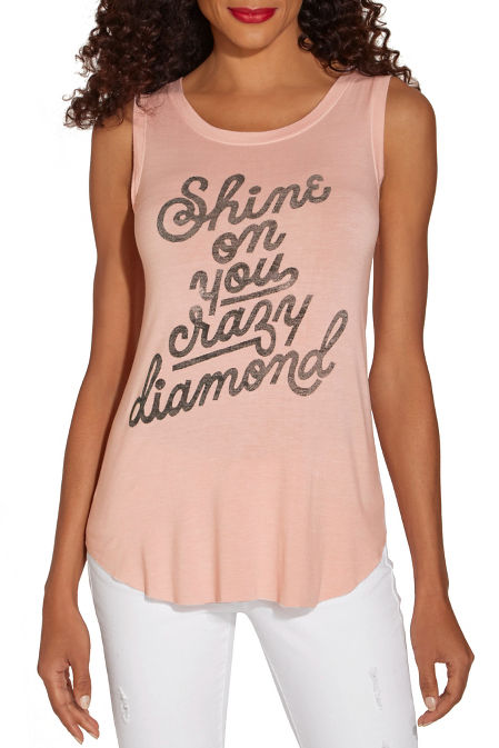 Crazy diamond sleeveless tee image