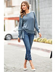 Ava Pull-on Ankle Jean With Pearls Photo