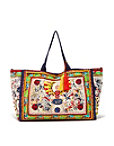 Mixed Paisley Print Tote Bag Photo