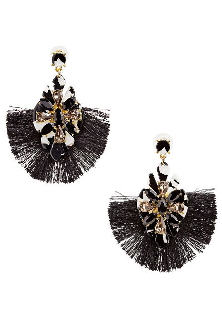 Tortoise fan earrings image