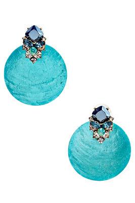 Turquoise seashell earrings
