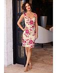 Floral Jacquard Sheath Dress Photo
