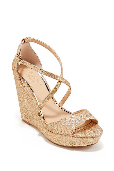 Sparkle Strappy Wedge Heel image