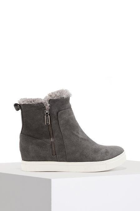 Weatherproof Faux-Fur Zip-Up Sneaker image