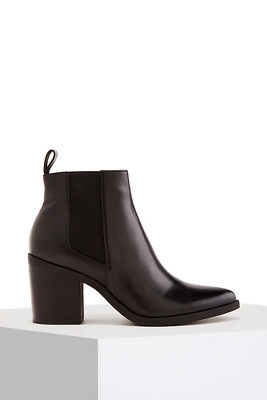 weatherproof leather bootie