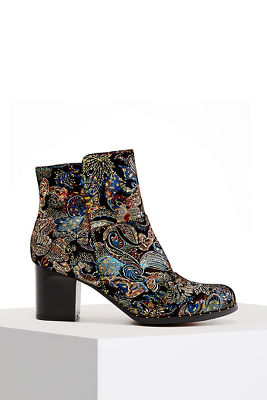 Allover Print Metallic Bootie