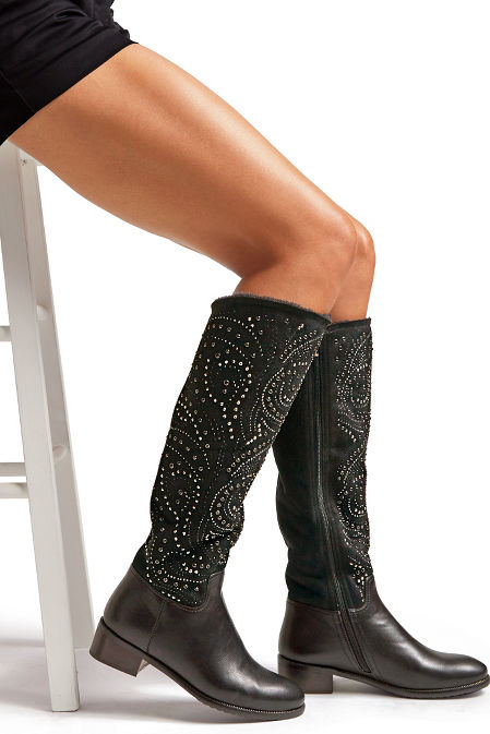 Embellished Faux-Fur Boot image