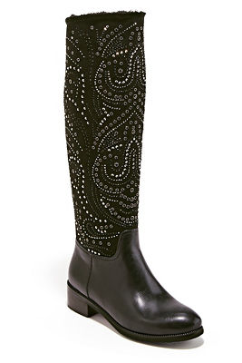 Embellished Faux-Fur Boot