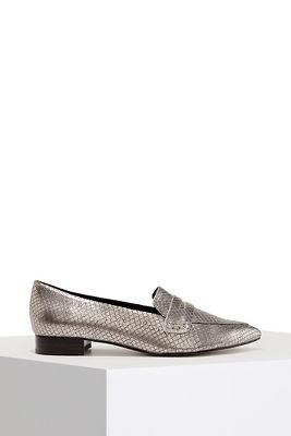 metallic loafer