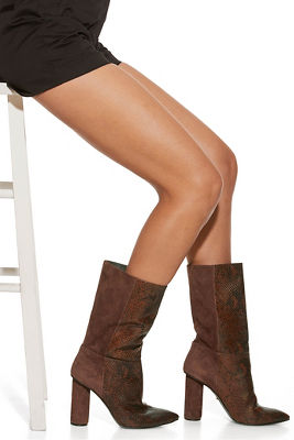 Mixed Leather Boot