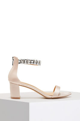 Jewel Ankle Wrap Heel