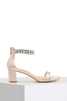 Jewel Ankle Wrap Heel