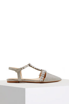 shimmer closed-toe flat