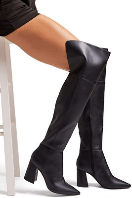 sleek over-the-knee boot