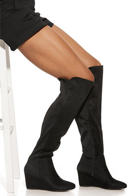 Stretch Back Wedge Boot