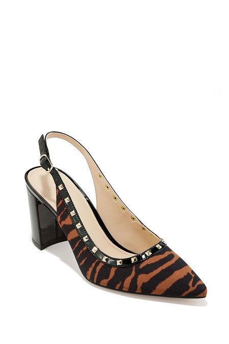 Studded Slingback Heel image